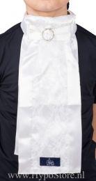 Plastron Lace GP wit met gesp