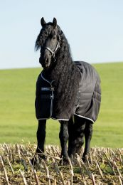 Rambo Stable Rug Medium Black with Pale Grey & Grey 200 gr.