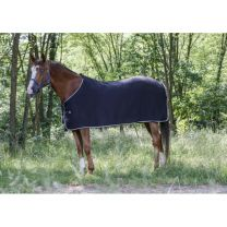 Riding World fleece deken zwart/grijs