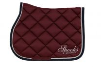 Spooks jumping saddle pad Fineline Bordeaux-Navy SS'19
