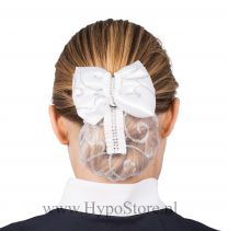 Nilette hairnet with bow and glitters white