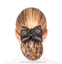 Nilette hairnet with bow strass black