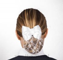 Nilette hairnet with bow white lace
