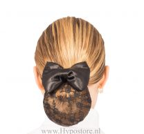 Nilette hairnet with bow black lace