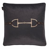 Adamsbro Velvet Snaffle Bit Grey Cushion
