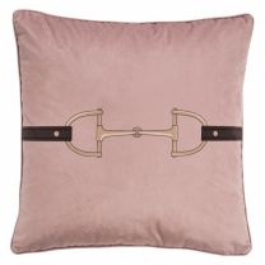 Adamsbro Velvet Snaffle Bit blush pink Cushion