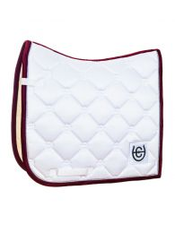 Equestrian Stockholm SS'20 Dressage saddlepad White Perfection Bordeaux