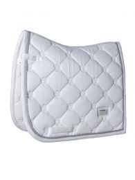 Equestrian Stockholm Dressage Pad White Perfection Silver