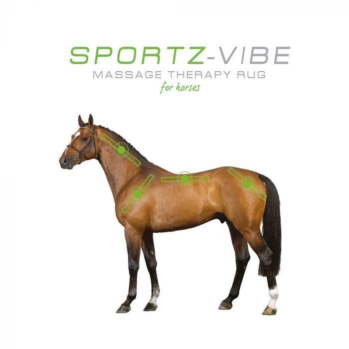 Horseware SPORTZ-VIBE Splitter Cable for Sportz-Vibe Rug Battery Panels Massage