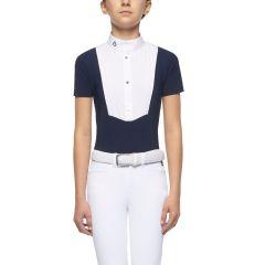Cavalleria Toscana FW'21 Logo Button Up S/S BIB Shirt Girls