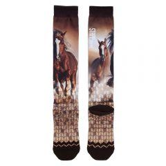 Stapp Horse Socks Running Horses Print