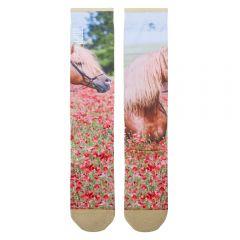 Stapp Horse Socks Flower Printed