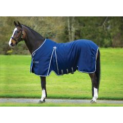Rambo Optimo Stable Sheet Navy with Beige, Baby Blue & Navy