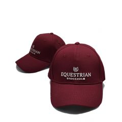 Equestrian Stockholm cap Bordeaux zilver