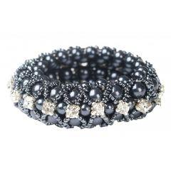 Horka  Crystal Pearl Scrunchie