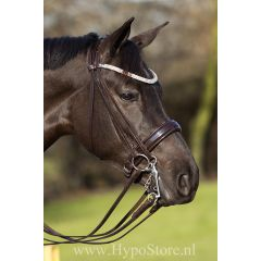 Premiera ''Prades'' Brown double bridle with crystal browband