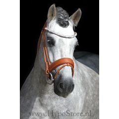 Premiera ''Imperia'' cognac rolled bridle with crystal browband