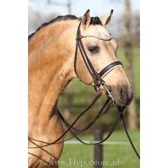 Premiera ''Levanto'' Brown / White padded double bridle with crystal browband