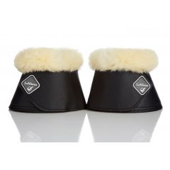 LeMieux WrapRound lambskin over reach boot white/natural