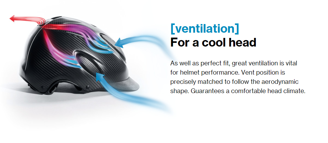 As well as perfect fit, great ventilation is vital for helmet performance. Vent position is precisely matched to follow the aerodynamic shape. Guarantees a comfortable head climate.